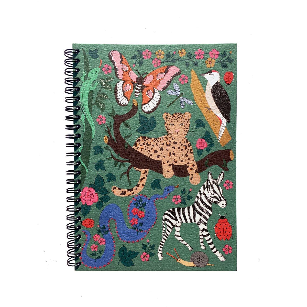 Flora and Fauna Spiral Bound A5 Notebook