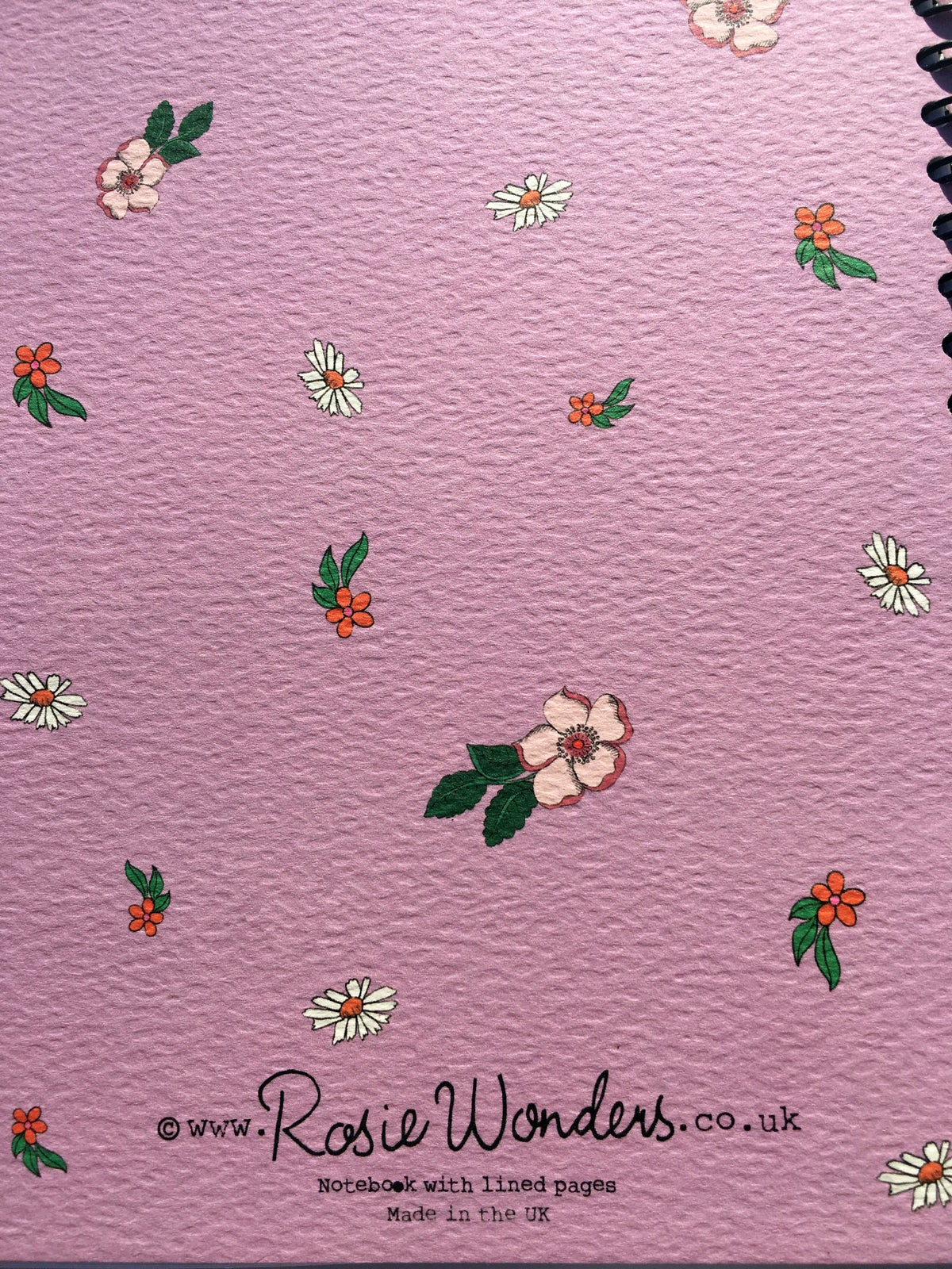 Flowers A5 Spiral Bound Notebook