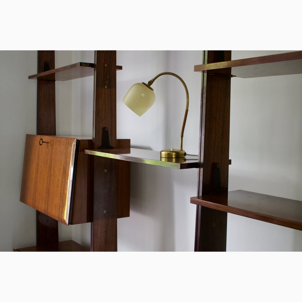Image of Floor to Ceiling Shelving System Attributed to Dassi, Italy 1950s