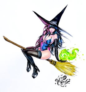 """Image of """"Witch's Spell"""" Holographic Print"""