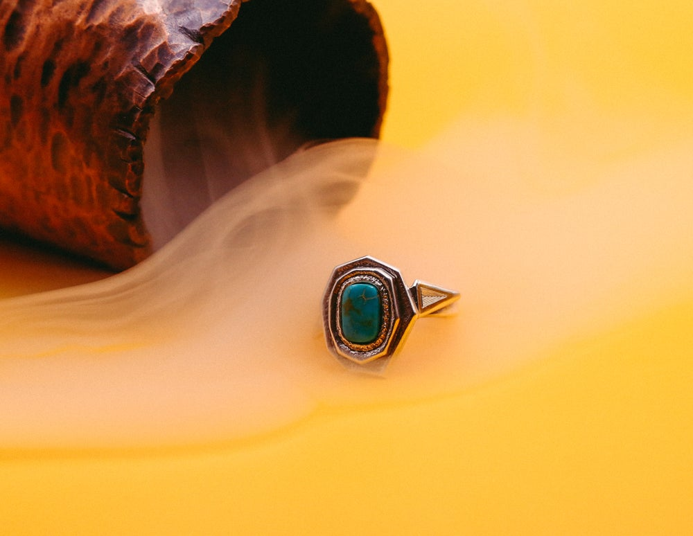 Image of Winged Turquoise Ring