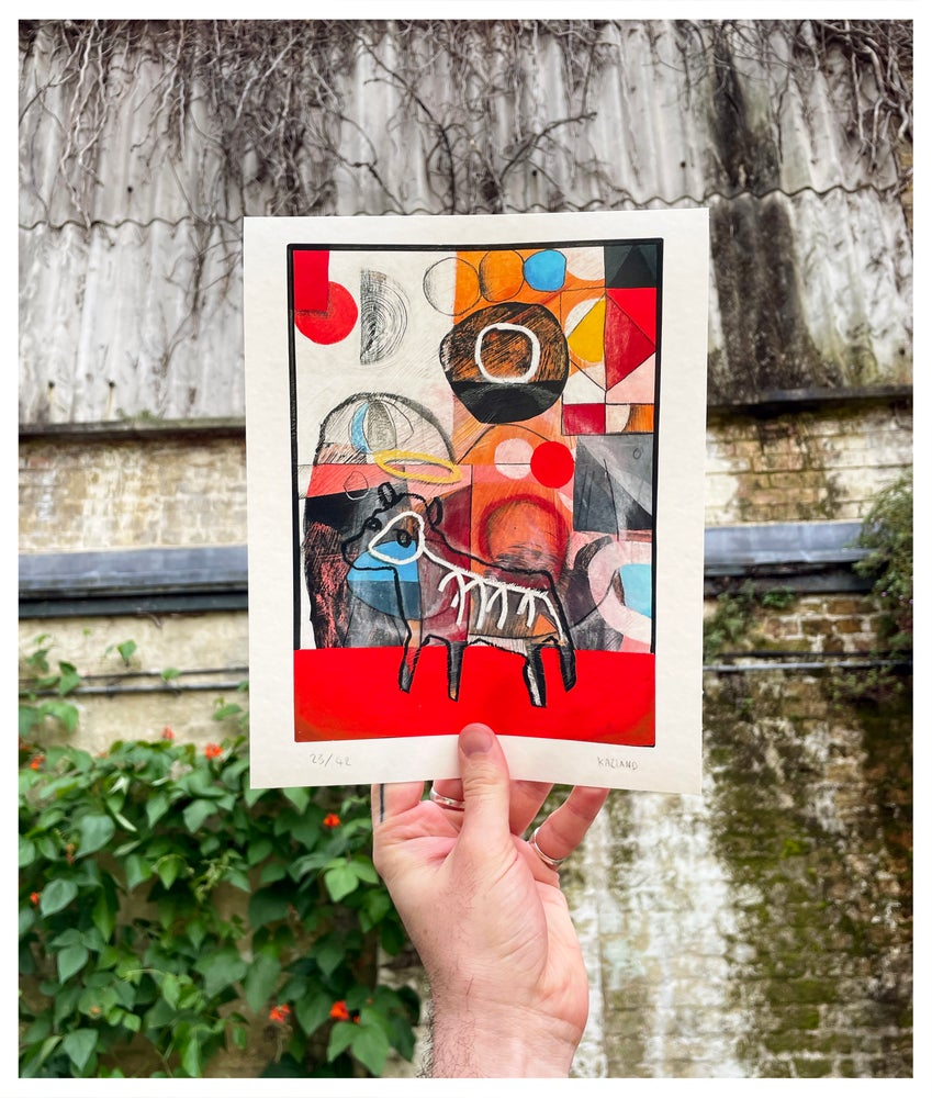 Image of Half the height of a cup of honey Giclée print