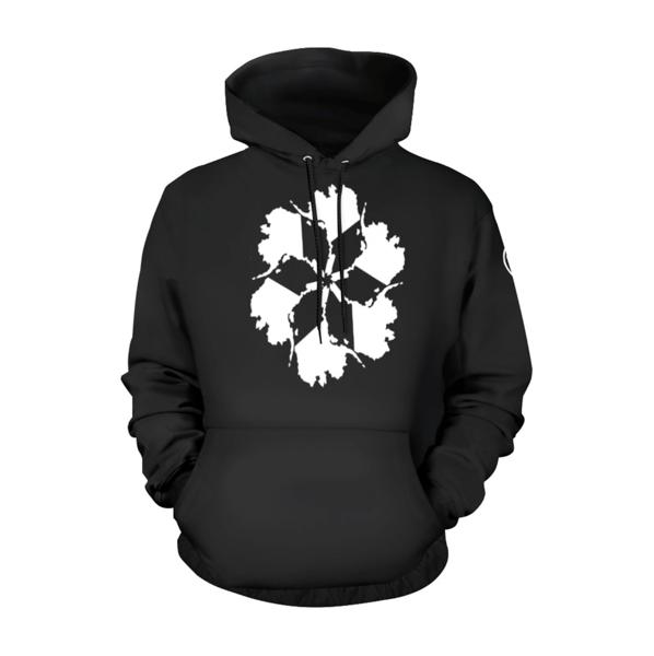 Image of AK Spiral OG Hoodie - White on Black