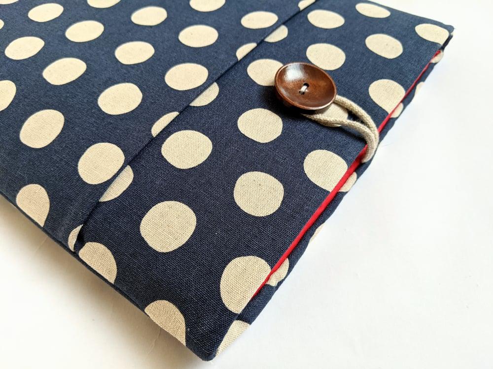 Image of Parisian Dots Laptop Sleeve, Custom Size iPad, Tablet, MacBook, Surface Pro, Kindle Cover Case