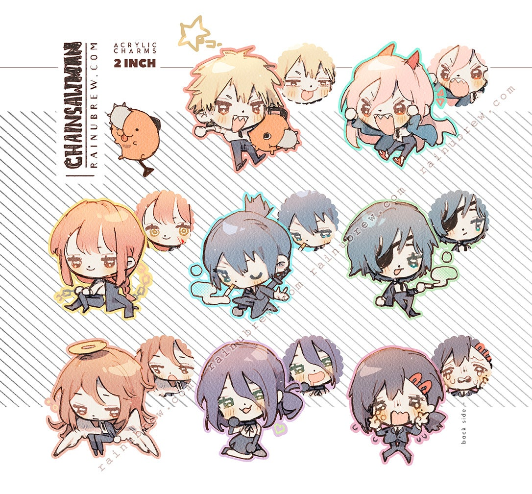 """Image of [PREORDER] *NEW* Chainsaw Man   2"""" Charms"""