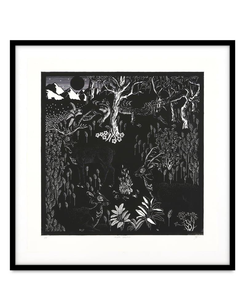 Image of Zephyr Larkin 'Deer Dream'. Original work on paper 2021
