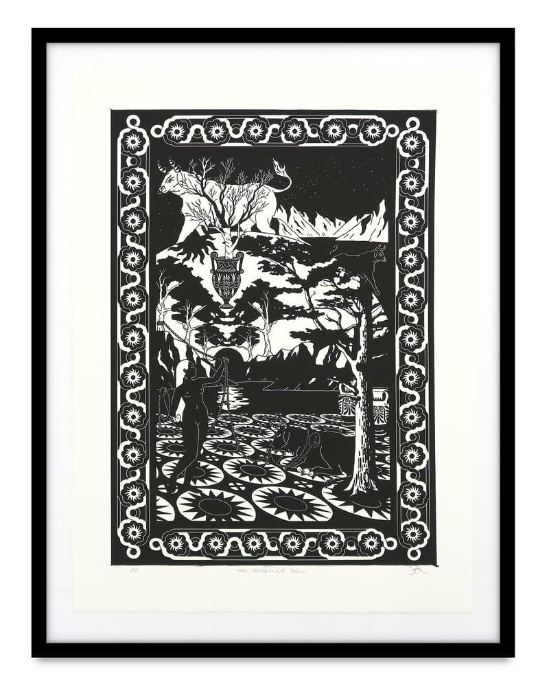 Image of Zephyr Larkin 'The Dreaming Bull'. Original work on paper 2021