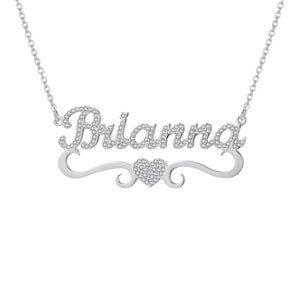 Image of PERSONALISED NECKLACE-CRYSTAL HEART