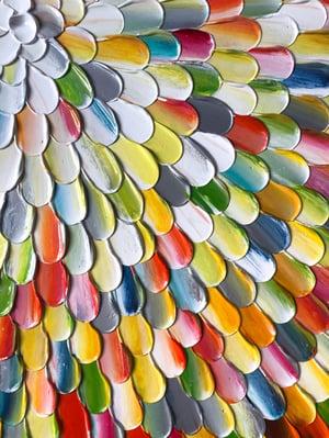 Image of Pacific orbis rainbow VII - 76x76cm