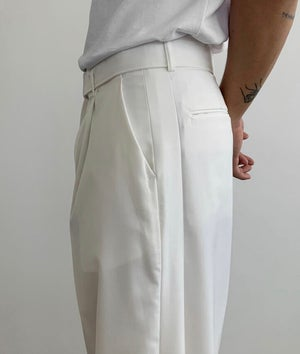 Image of Belted Wide Pants