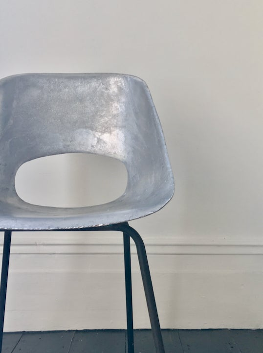 Image of Aluminium Tulipe Chair by Pierre Guariche, France 1950s