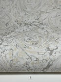 Marbled Paper Subtle Neutrals on White - 1/2 sheets