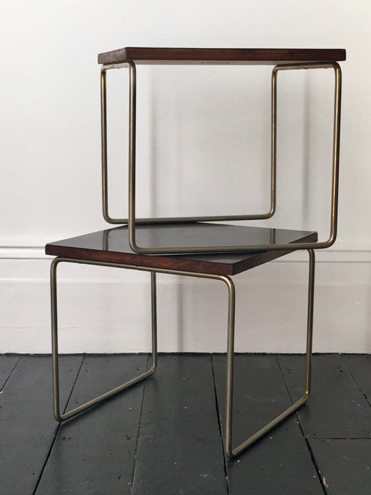 Image of Pair of Side Tables by Pierre Guariche for Steiner, France 1950s