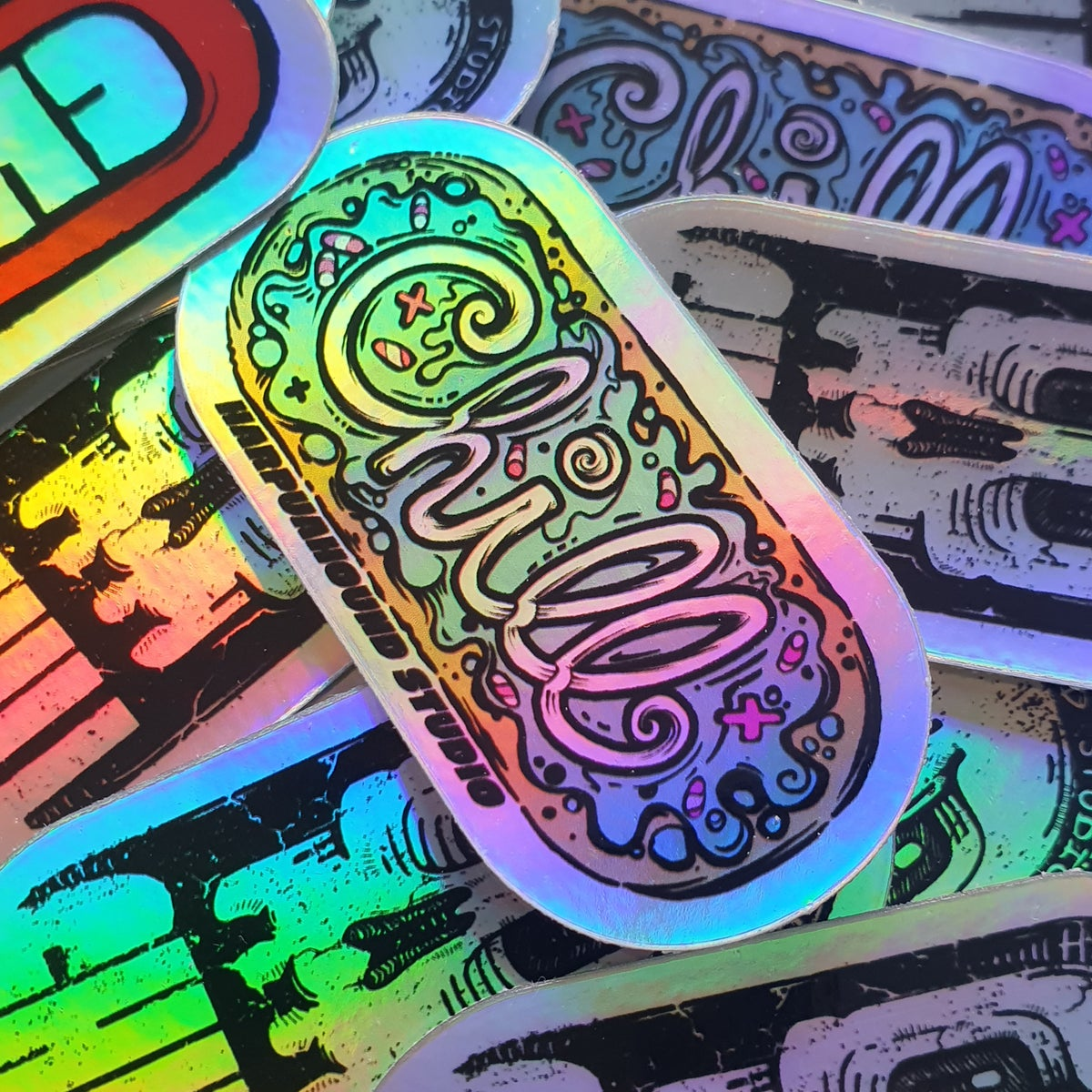 Chill Pill Holographic Slap Pack