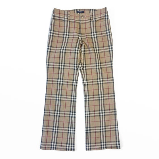 Image of Burberry London Nova Check Flared Trousers