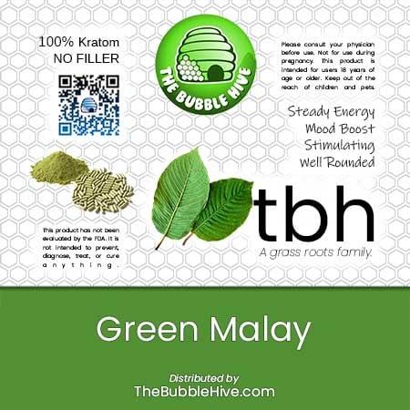 Image of Green Malay Kratom Capsules