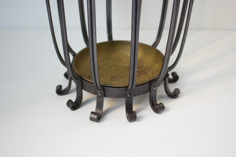 Image of Italian Umbrella Stand with Brass Tray