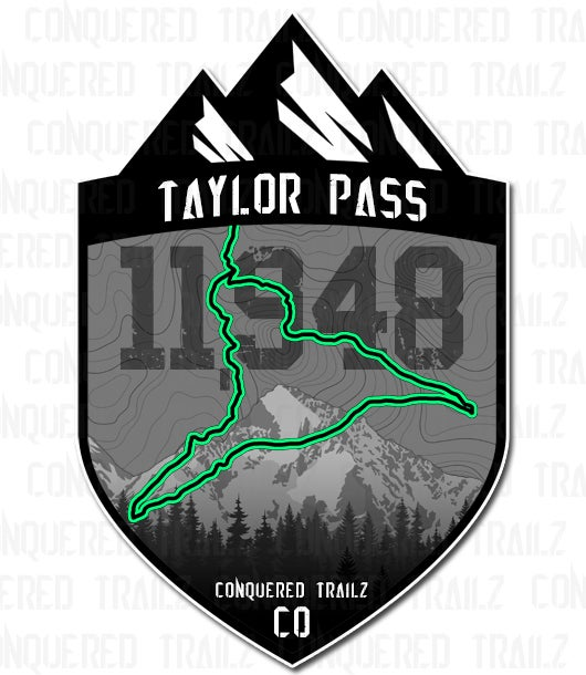 """Image of """"Taylor Pass"""" Trail Badge"""