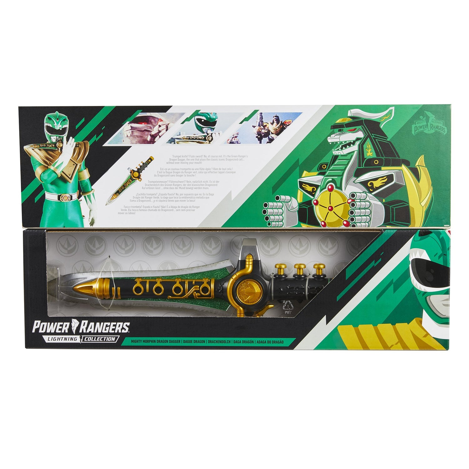 Image of Power Rangers Lightning Collection Mighty Morphin Green Dragon Dagger Collectible