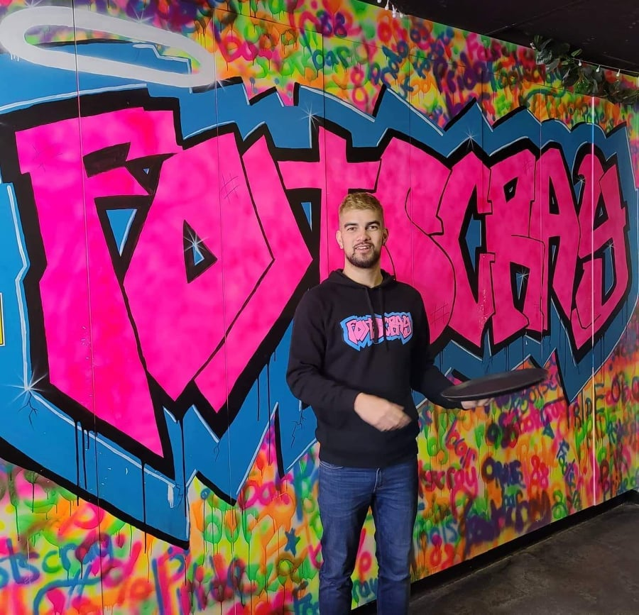 Limited Edition - FOOTSCRAY GRAFFITI - black hoodie. Designed by Mitchell Boothby.