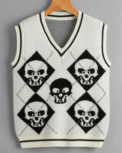 Image of Skull Knit Vest