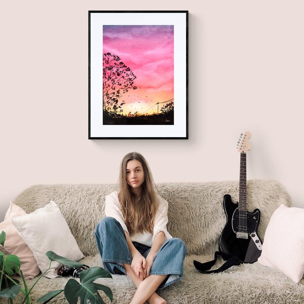 View of warm Spring Evening  - Artwork  - Prints