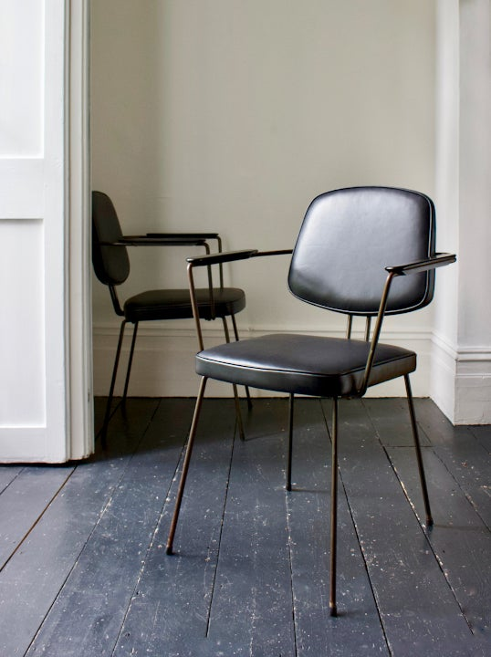 Image of Pair of Leather Desk Chairs by Rudolf Wolf