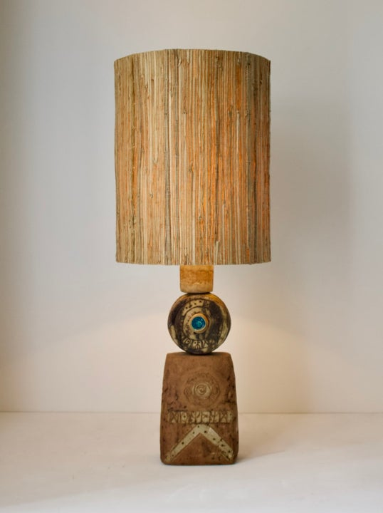 Image of Early Totem Table Lamp by Bernard Rooke, England 1960s