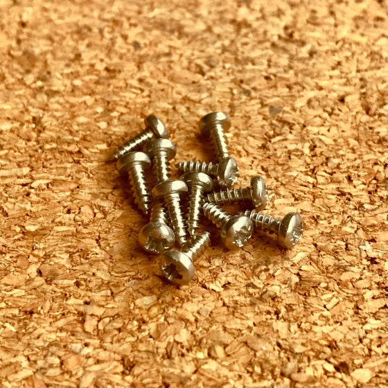 Image of 12 X Cover Plate Screws for Wooden Resonator Guitars - Coverplate