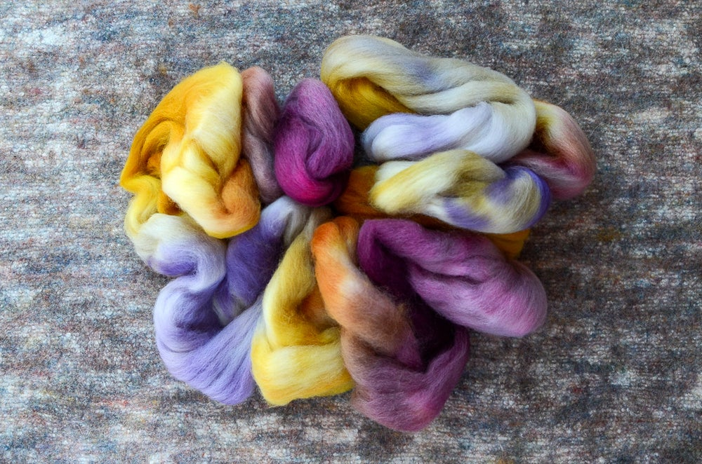 "Image of ""Fades Like a Flower"" Falkland Wool Spinning Fiber - 4 oz."