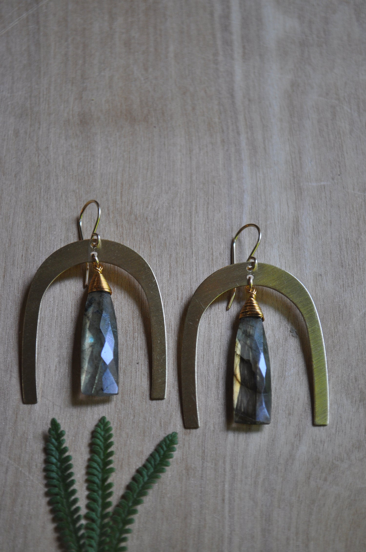 Image of The Rambler Dangles - Featuring Labradorite Triangles