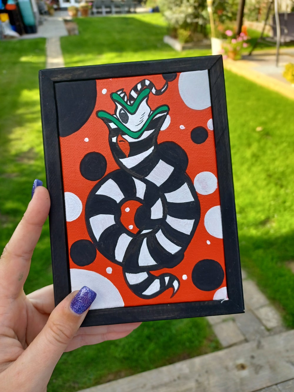 Image of Sand Worm Spooky Painting