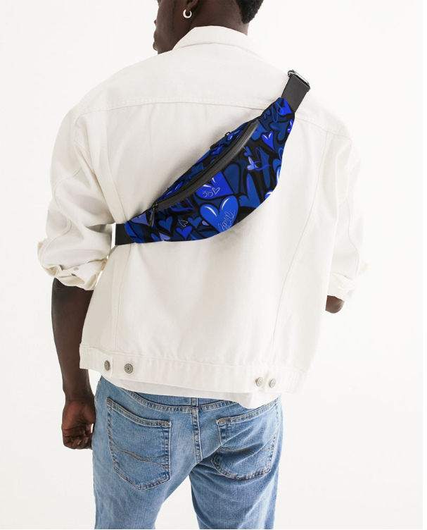 Image of Bee1ne Spread More Love crossbody sling bag (Nipsey Blue)