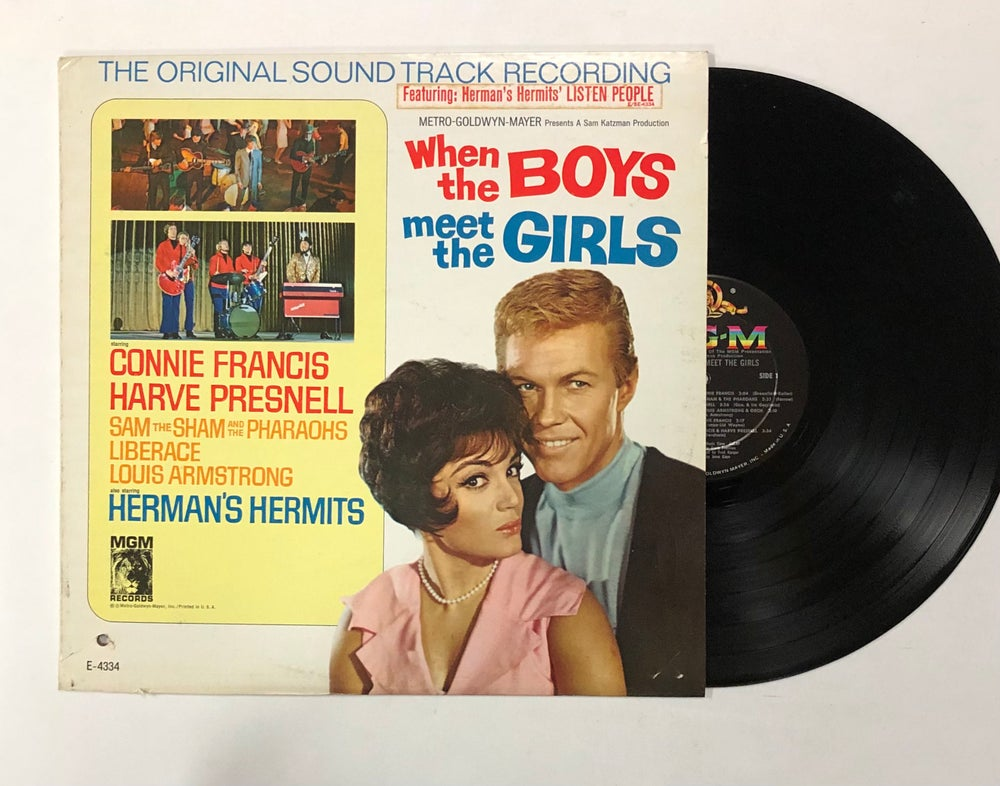 Various – When The Boys Meet The Girls - The Original Sound Track Recording LP