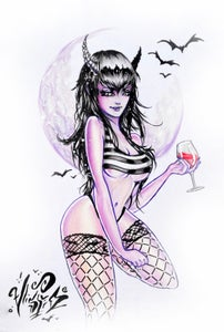 """Image of """"Vampire Babe"""" Holographic Print"""