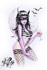 "Image of ""Vampire Babe"" Original Painting"