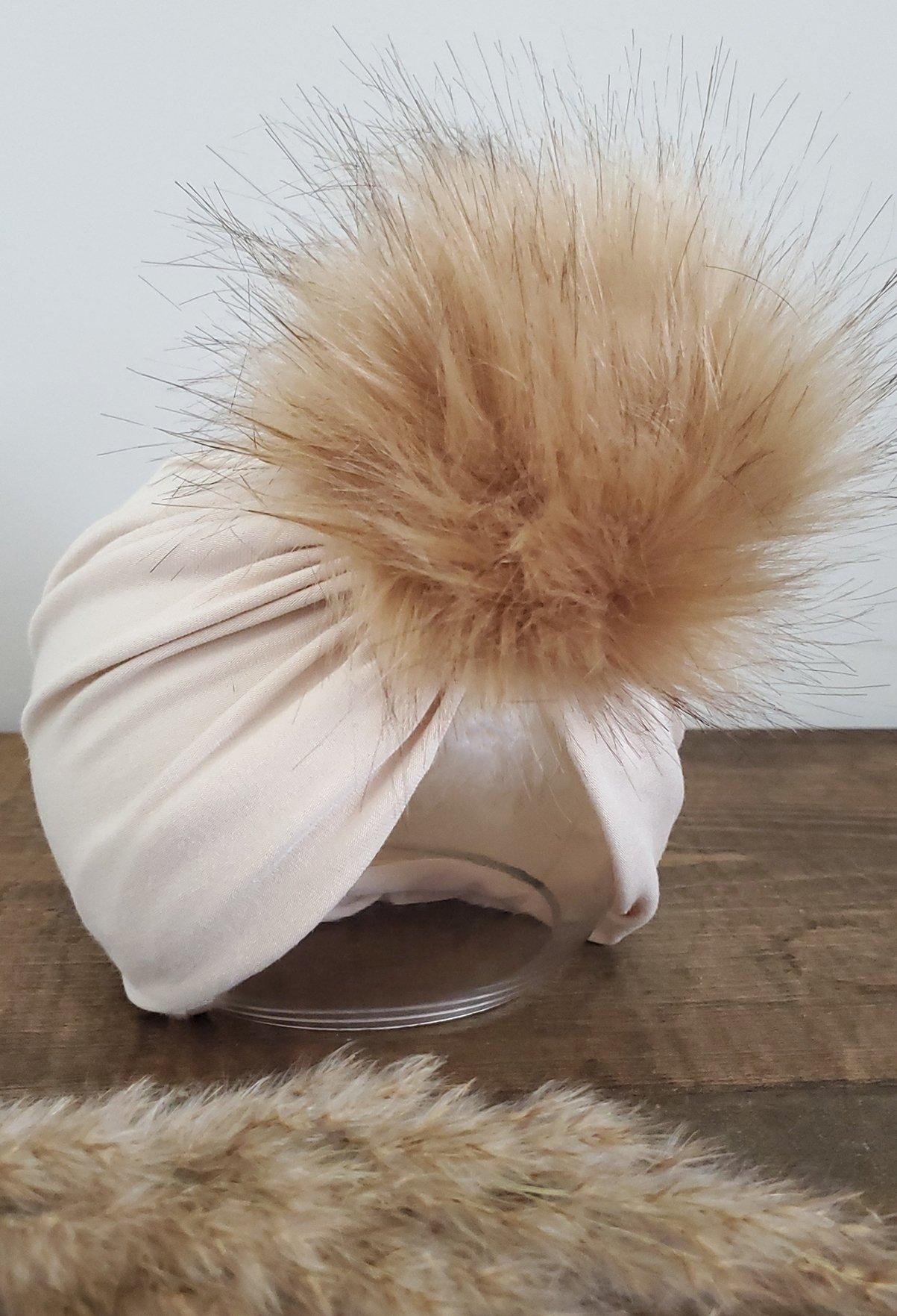 Image of Sand bamboo POM turban