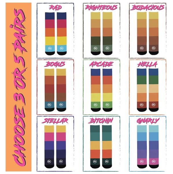 Image of Retro Socks 3-Packs & 5 Packs