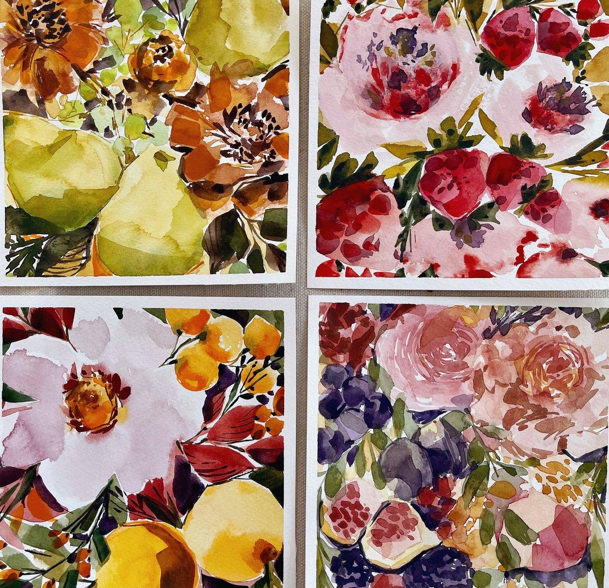 Image of Watercolor Workshop Bundle - Flowers and Fruit
