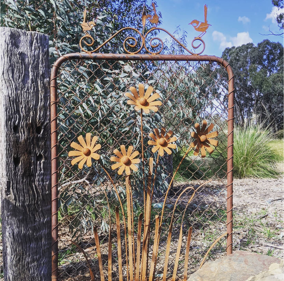 Garden gate with flowers
