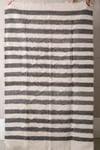 Vintage striped handwoven wool carpet