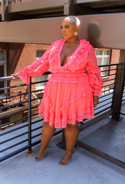 Image of Chastity Dress Coral