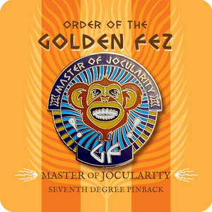 Image of Order of the Golden Fez Master of Jocularity 7th Degree Enameled Pin