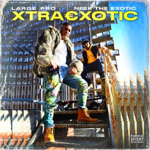 """Image of NEEK THE EXOTIC FEATURING LARGE PRO """"XTRAEXOTIC"""" Autographed LP Vinyl/CD/Cassette and Sticker Bundle"""