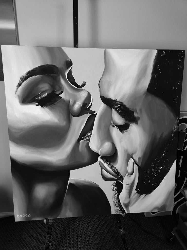 Image of Gonna love me b&w - Canvas Print