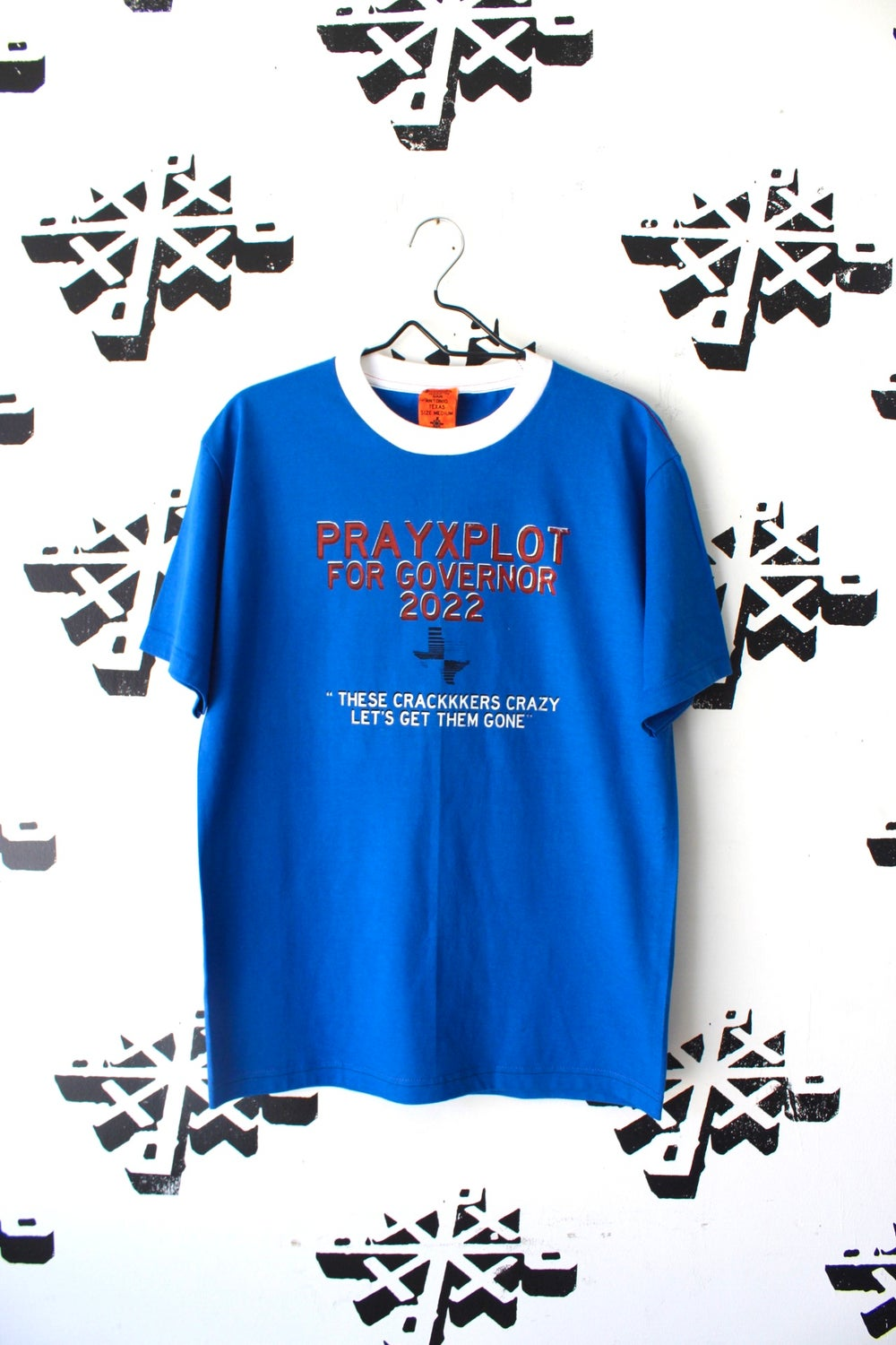 pxp for governor 2020 ringer tee in blue