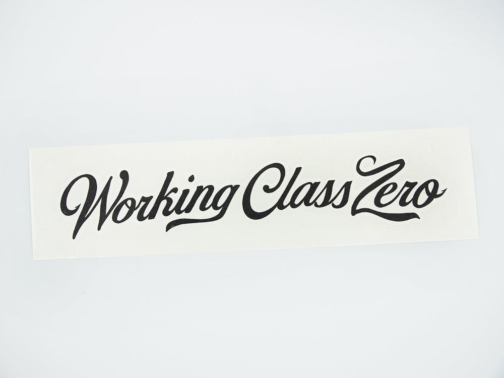 Image of Tradition Script Transfer Sticker (BLACK)