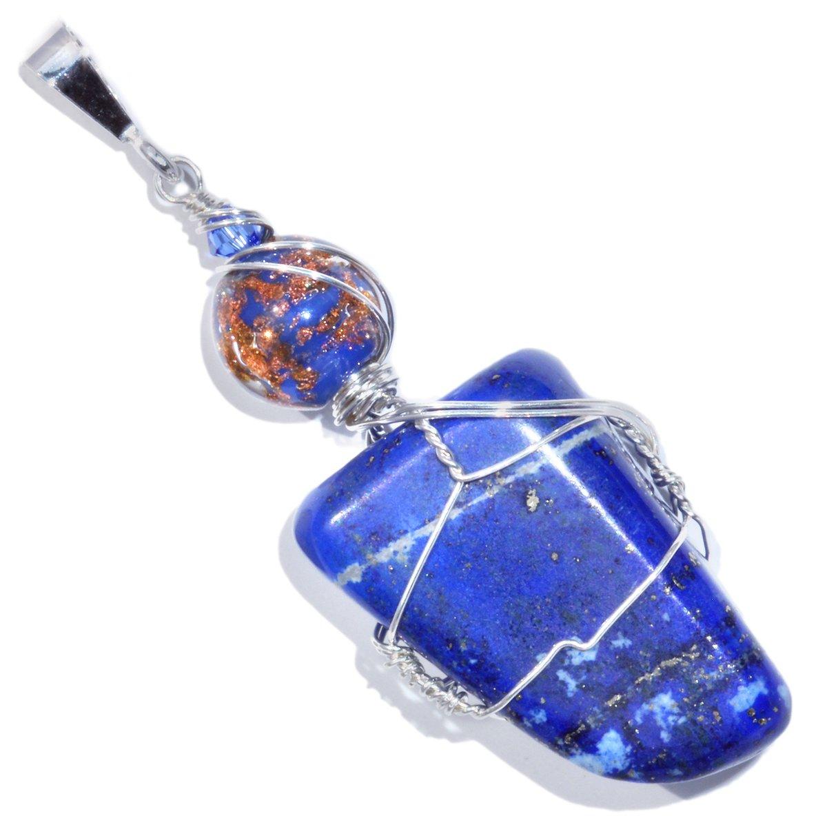 Lapis Lazuli Pendant with Venetian Glass Bead