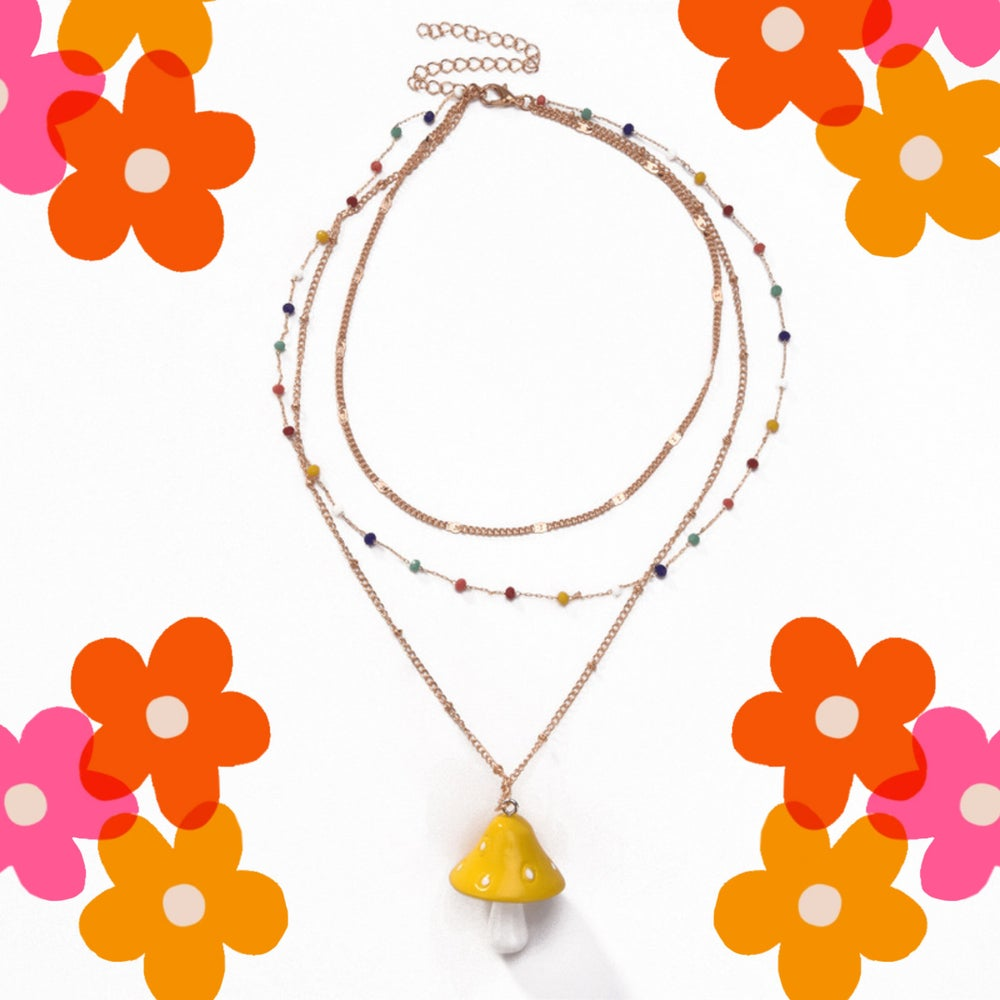 Image of Layered Mushroom Necklace