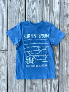 Image of NEW // Long Lines Blue Kids Tee